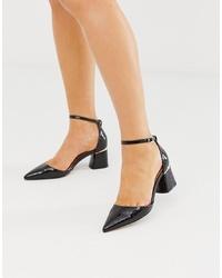Escarpins en cuir noirs ASOS DESIGN