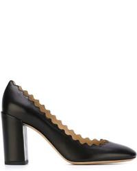 Escarpins en cuir noirs Chloé