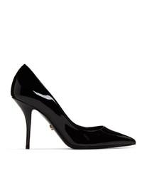 Escarpins en cuir noirs Dolce And Gabbana