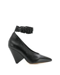 Escarpins en cuir noirs Isabel Marant
