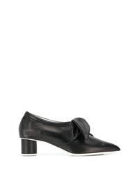 Escarpins en cuir noirs Jil Sander