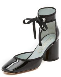Escarpins en cuir noirs Marc Jacobs