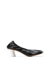 Escarpins en cuir noirs MM6 MAISON MARGIELA