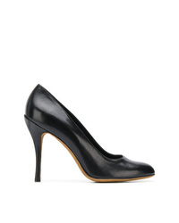 Escarpins en cuir noirs Moschino Cheap & Chic