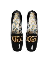 Escarpins en cuir noirs Gucci