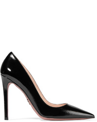 Escarpins en cuir noirs Prada