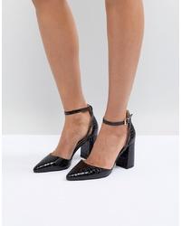 Escarpins en cuir noirs RAID