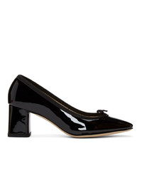 Escarpins en cuir noirs Repetto