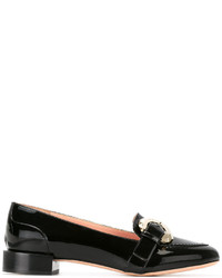 Escarpins en cuir noirs Rochas