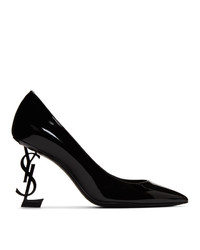 Escarpins en cuir noirs Saint Laurent