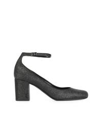 Escarpins en cuir noirs Saint Laurent