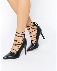 Escarpins en cuir noirs Senso