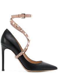 Escarpins en cuir noirs Valentino