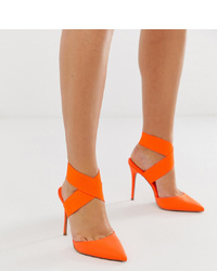 Escarpins en cuir orange ASOS DESIGN