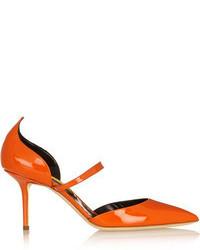 Escarpins en cuir orange Rupert Sanderson