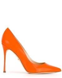 Escarpins en cuir orange Sergio Rossi