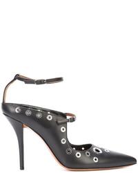 Escarpins en cuir ornés noirs Givenchy