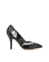 Escarpins en cuir ornés noirs Isabel Marant