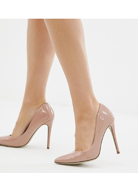 Escarpins en cuir roses Missguided