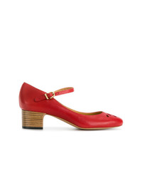 Escarpins en cuir rouges A.P.C.