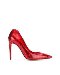 Escarpins en cuir rouges Alexander McQueen