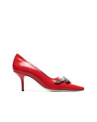 Escarpins en cuir rouges Dorateymur