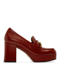 Escarpins en cuir rouges Gucci