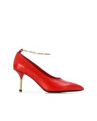 Escarpins en cuir rouges Jil Sander