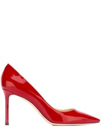 Escarpins en cuir rouges Jimmy Choo
