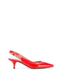Escarpins en cuir rouges L'Autre Chose