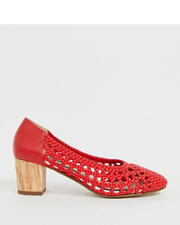 Escarpins en cuir rouges Miss Selfridge