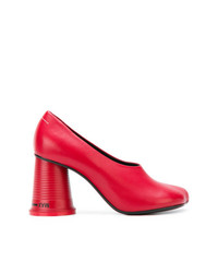 Escarpins en cuir rouges MM6 MAISON MARGIELA