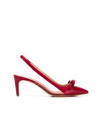 Escarpins en cuir rouges RED Valentino