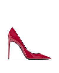 Escarpins en cuir rouges Saint Laurent