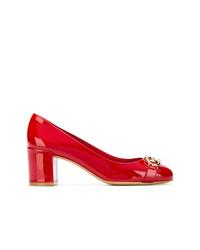 Escarpins en cuir rouges Salvatore Ferragamo