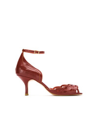 Escarpins en cuir rouges Sarah Chofakian