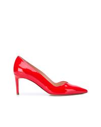 Escarpins en cuir rouges Stuart Weitzman