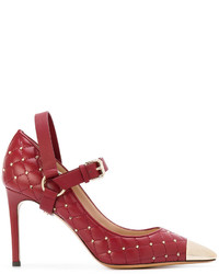 Escarpins en cuir rouges Valentino