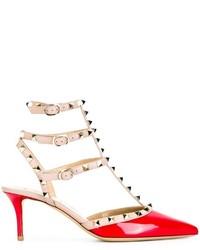 Escarpins en cuir rouges Valentino Garavani