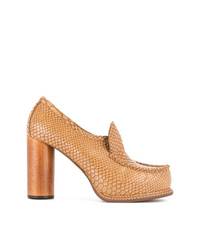 Escarpins en cuir tabac Stella McCartney