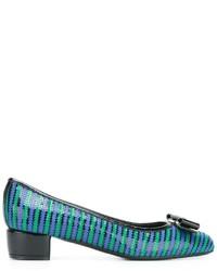 Escarpins en cuir turquoise Salvatore Ferragamo