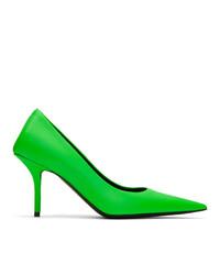 Escarpins en cuir verts Balenciaga