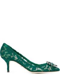 Escarpins en cuir verts Dolce & Gabbana