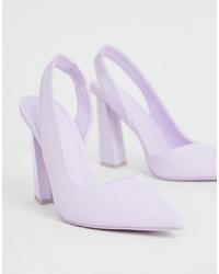 Escarpins en cuir violet clair ASOS DESIGN