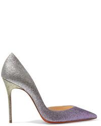 Escarpins en cuir violet clair Christian Louboutin