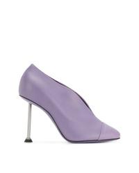 Escarpins en cuir violet clair Victoria Beckham