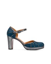 Escarpins en daim bleu canard Chie Mihara