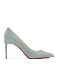 Escarpins en daim bleu clair Christian Louboutin