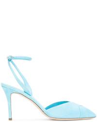 Escarpins en daim bleu clair Giuseppe Zanotti Design