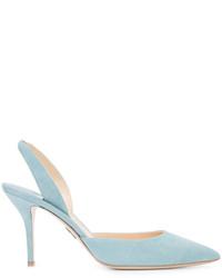 Escarpins en daim bleu clair Paul Andrew